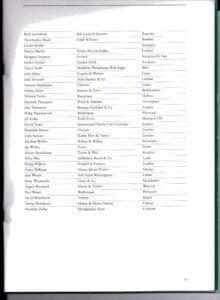 SFLA Accredited Specialists April 2000; Final page of list