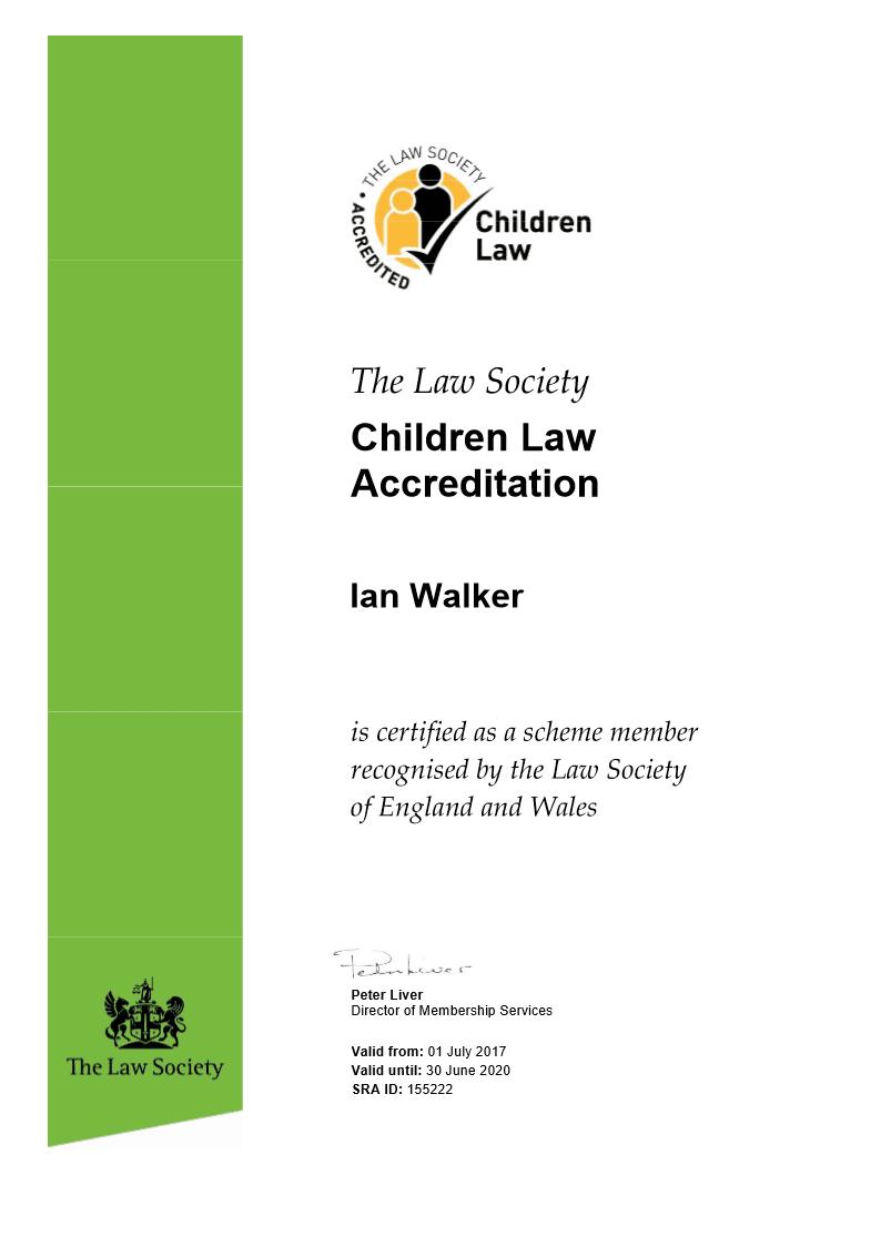 Children Panel Certificate