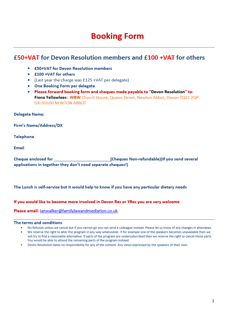 Devon Resolution Public Law Training 2018 2