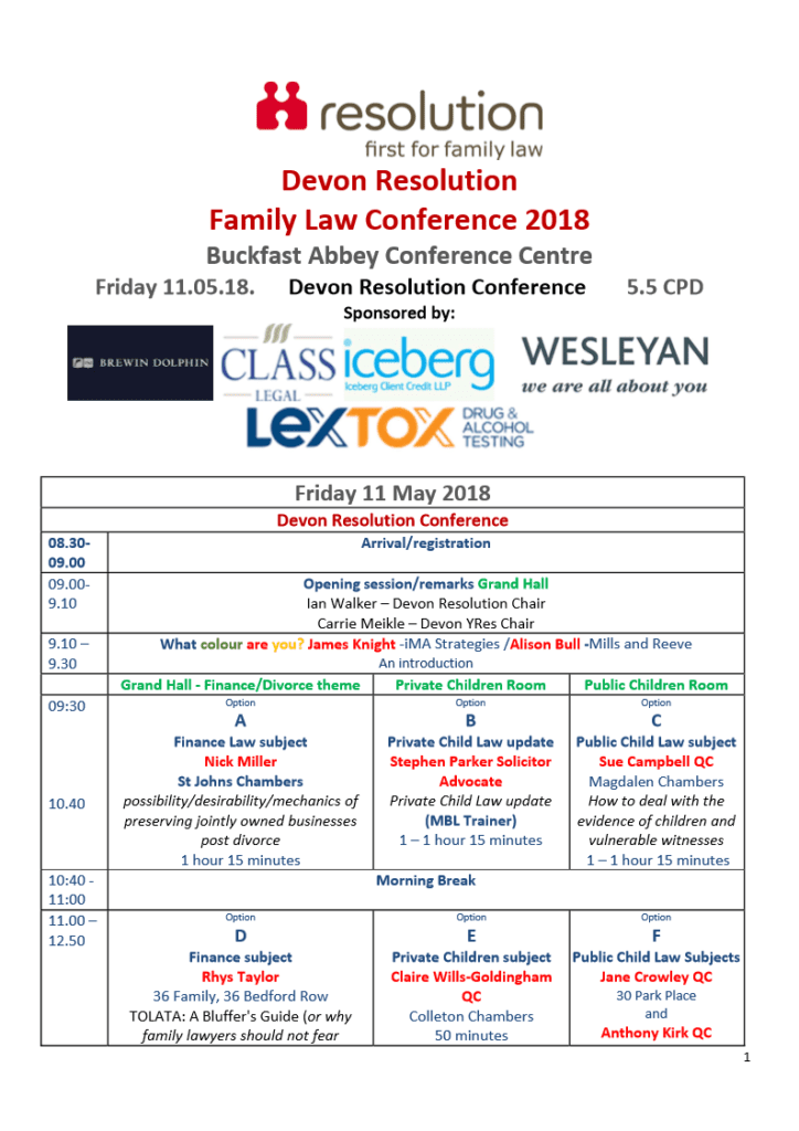 Resolution Family Law Conference