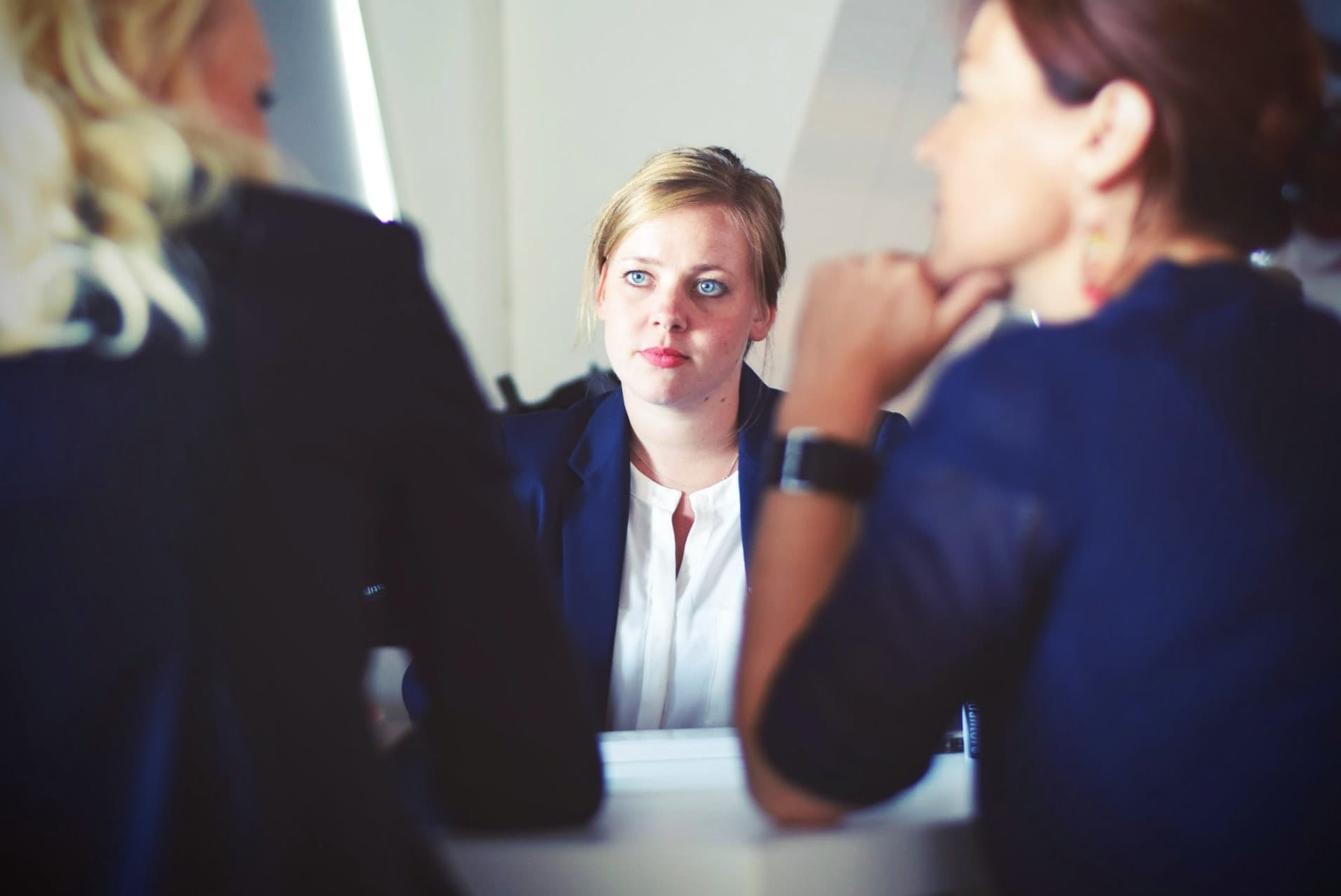 Divorce lawyer in a meeting