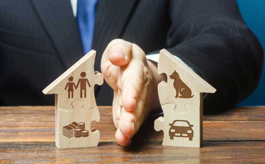 property divided on divorce