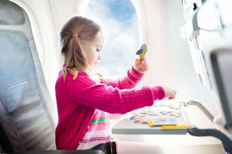 girl on an airplane
